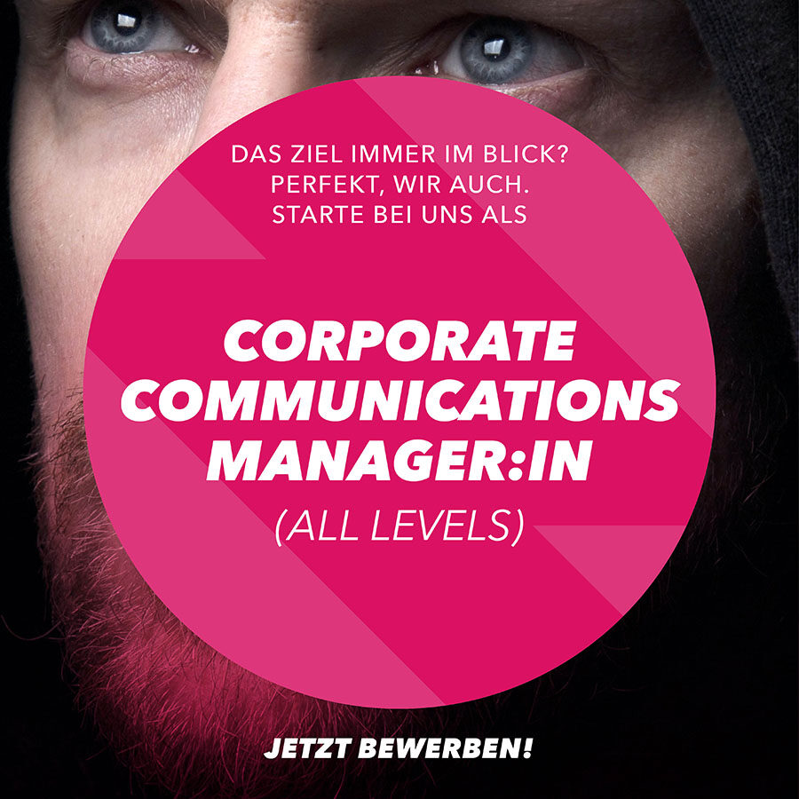 Stelle Corporate Communications Manager:in